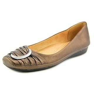 Naturalizer Violette Women Square Toe Leather Bronze Flats