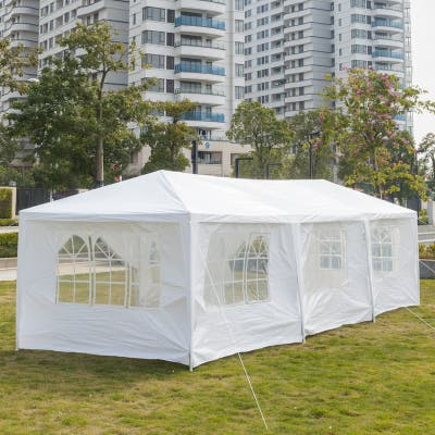 10 x 30 ft. Outdoor Wedding Party Tent with 8 Walls - 8 Walls