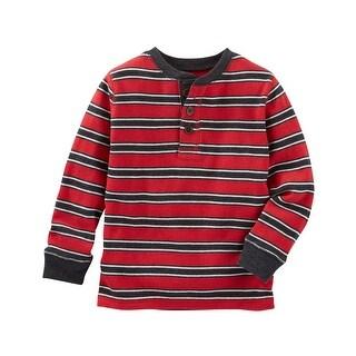 OshKosh B'gosh Little Boys' Striped Thermal Henley, 5-Toddler