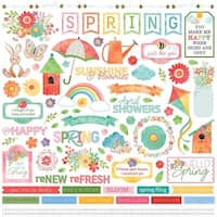 "Elements - Spring In My Garden Stickers 12""X12"""
