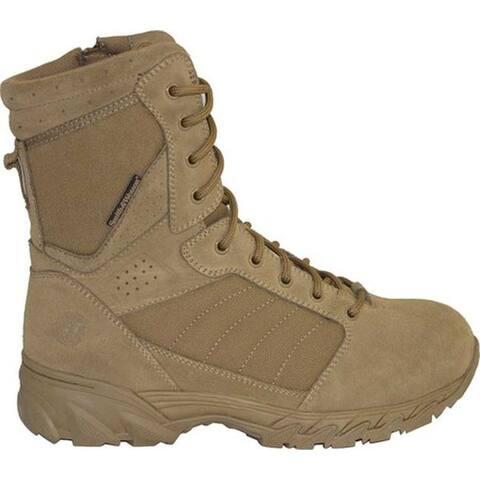 "Smith & Wesson Men's Breach 2.0 8"" Side Zip Boot Coyote Suede/Nylon"
