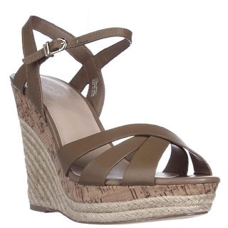 Charles by Charles David Astro Wedge Cork Espadrille Sandals - Nude