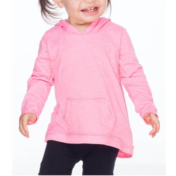 Kavio! Infants Jersey RawEdge High Low Long Sleeve Hoodie w.Pouch