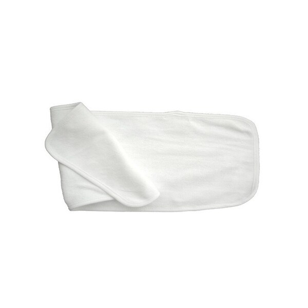 Bambini Baby 2- Ply Terry Burp Cloth White with White Trim - 1025W