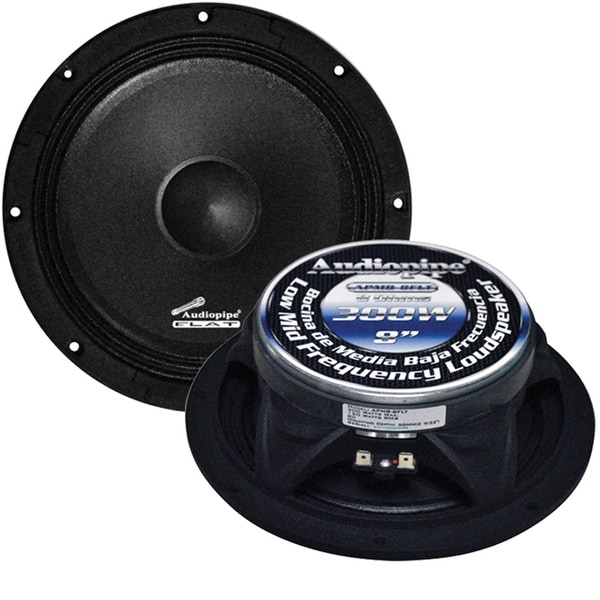 "Audiopipe 8"" Flat Loud Speaker(Sold each) 300W Max"