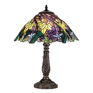 22 Inch H Spiral Grape Table Lamp