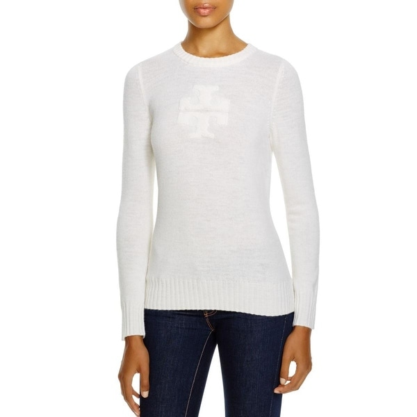 Tory Burch Womens Hattie Pullover Sweater Wool Crew Neck