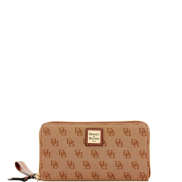 Dooney & Bourke Madison Signature Large Zip Around Wristlet (Introduced by Dooney & Bourke at $128 in Aug 2017)
