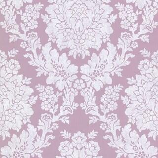Brewster 344-68710 Liza Purple Roselle Damask Wallpaper