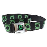 Green Lantern Logo Seatbelt Belt-Holds Pants Up