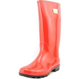 Nicole Miller New York Rena Women Round Toe Synthetic Red Rain Boot