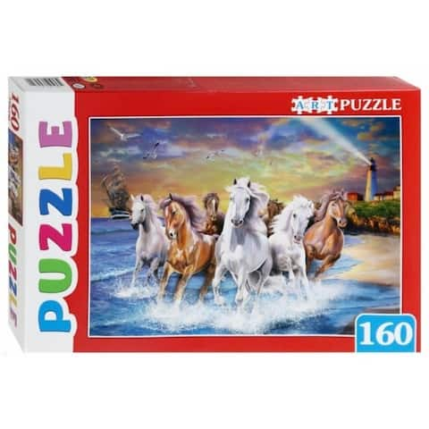 Horses by The Sea 160 pc. Jigsaw Puzzle for Kids