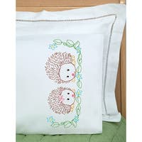 Children's Stamped Pillowcase W/White Perle Edge 1/Pkg-Hedgehogs