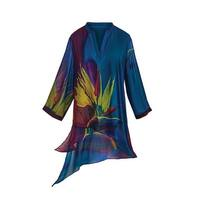 Cocoon House Women's Tunic Top - Bird of Paradise V-Neck and 3/4 Sleeve Blouse