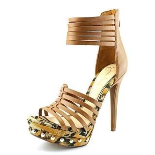 Jessica Simpson Patreena Women Open Toe Synthetic Platform Heel