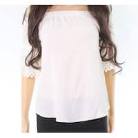 Moa Moa White Ivory Cutout Textured Off-Shoulder XS Top Blouse
