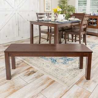 """Offex 48"""" Homestead Simple Classic Traditional Solid Wood Dining Bench - Walnut"""