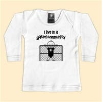 - I Live In A Gated Community - White Long Sleeve T-Shirt - 12-18