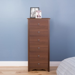 Link to Prepac Monterey Tall 6-Drawer Chest Similar Items in Dressers & Chests