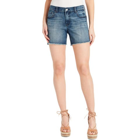 Jessica Simpson Womens Mika Cutoff Shorts Denim Frayed Hem