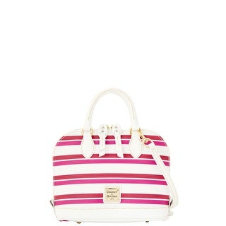 Dooney & Bourke Stonington Bitsy Bag (Introduced by Dooney & Bourke at $178 in Jan 2016) - magenta orchid white