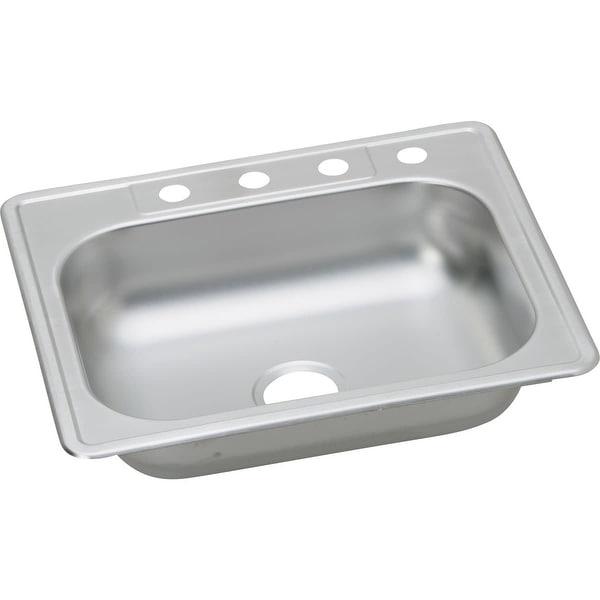 """Elkay K12522 Kingsford 25"""" Single Basin Drop In Stainless Steel Kitchen Sink"""