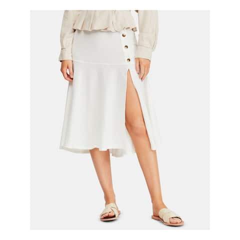 FREE PEOPLE Womens Ivory Midi Skirt Size 4