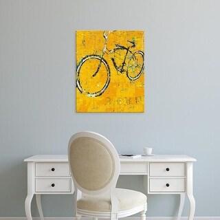 Easy Art Prints Daryl Thetford's 'Gold Bike' Premium Canvas Art