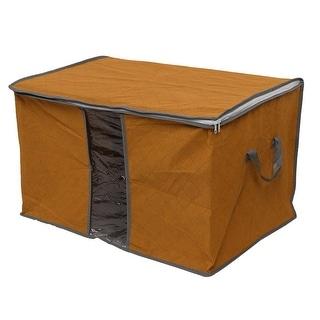 Household Family Clothing Quilt Pillow Zippered Storage Bag Organizer Orange