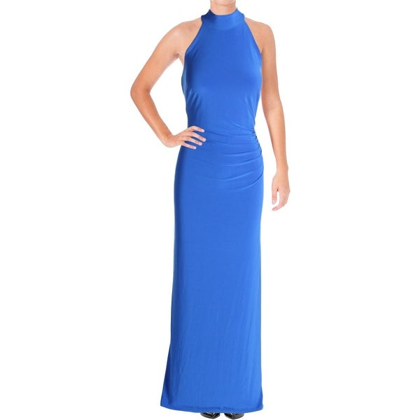 4b2e8140538 Shop Lauren Ralph Lauren Womens Zeus Evening Dress High Neck Halter ...