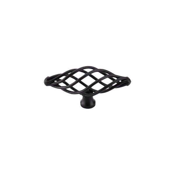 Top Knobs M623 Normandy 3 Inch Long Birdcage Cabinet Knob - patina black