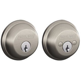 Schlage B62N619 Two Side Keyed Deadbolt, Satin Nickel