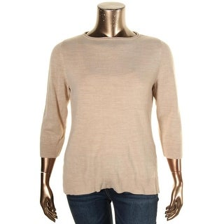 Karen Scott Womens Petites Pullover Sweater Ribbed Trim Roll Neck - pxl