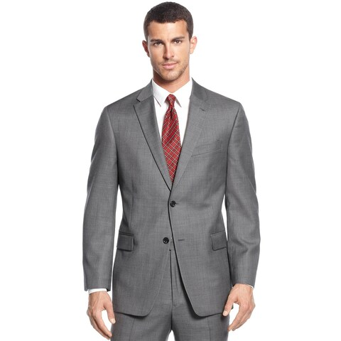 Tommy Hilfiger Mens Regular Fit Grey Worsted Wool Sportcoat 40R Suit Separate