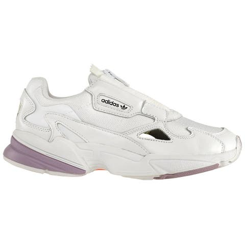 adidas Falcon Zip Lace Up Womens Sneakers Shoes - White