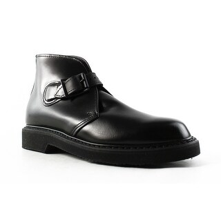Bates Mens Batesliteschukka-M Black Ankle Boots Size 3.5