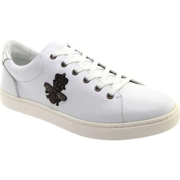 d12f584bb7f Shop D G Men s CS1475 London Sneaker Bianco Argento Leather - On ...
