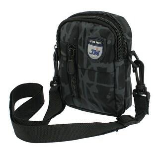 Camera Holding Zipper Waist Shoulder Bag Black Gray w Adjsutable Belt