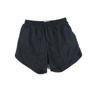 Soffe Solid Black Womens Size Medium M Pull On Mini Short Shorts