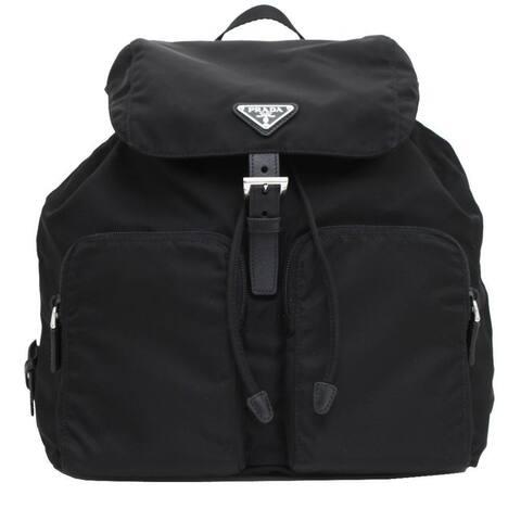 Prada Zainetto Unisex Black Tessuto Nylon Backpack Rucksack 1BZ005