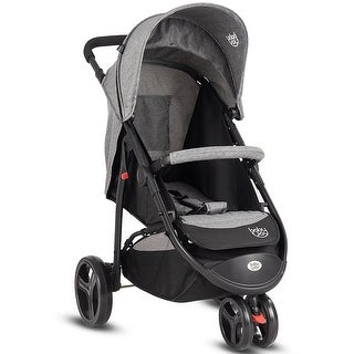 Baby Joy Portable 3 Wheel Folding Baby Stroller Kids Travel Pushchair Newborn Gray
