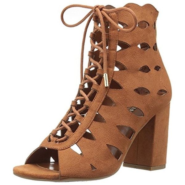 Guess Womens Owina Dress Sandals Faux Suede Cut-Out