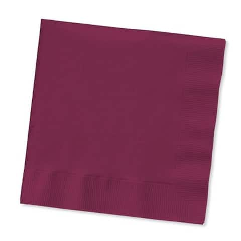 """Club Pack of 500 Burgundy Purple 3-Ply Paper Party Lunch Napkins 6.5"""" - N/A"""