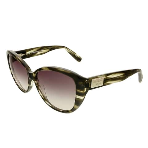 Dsquared DQ0128/S 20B Olive Horn Cat Eye Sunglasses - 58-14-140