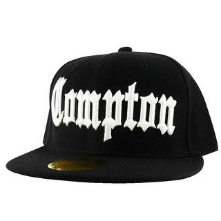 Compton City Black White Logo Snapback Hat Cap by CapRobot