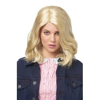 Strange Girl Blonde Adult Costume Wig - White