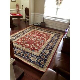 Safavieh Handmade Royalty Rust/ Navy Wool Rug (8' x 10')