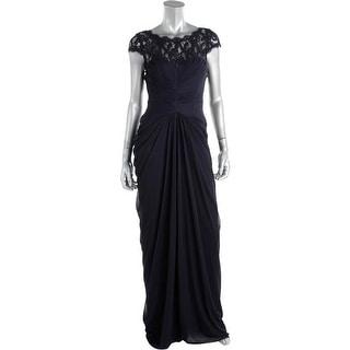 Adrianna Papell Womens Sheer Prom Evening Dress - 4