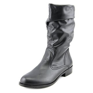 Array Jennifer  W Round Toe Synthetic  Mid Calf Boot