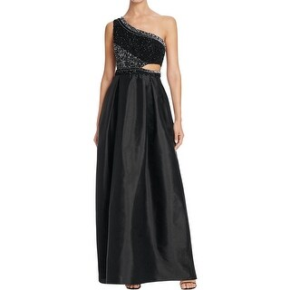 Aidan Mattox Womens Evening Dress Embellished Cut-Out